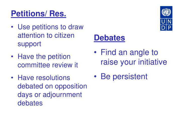 Petitions/ Res.