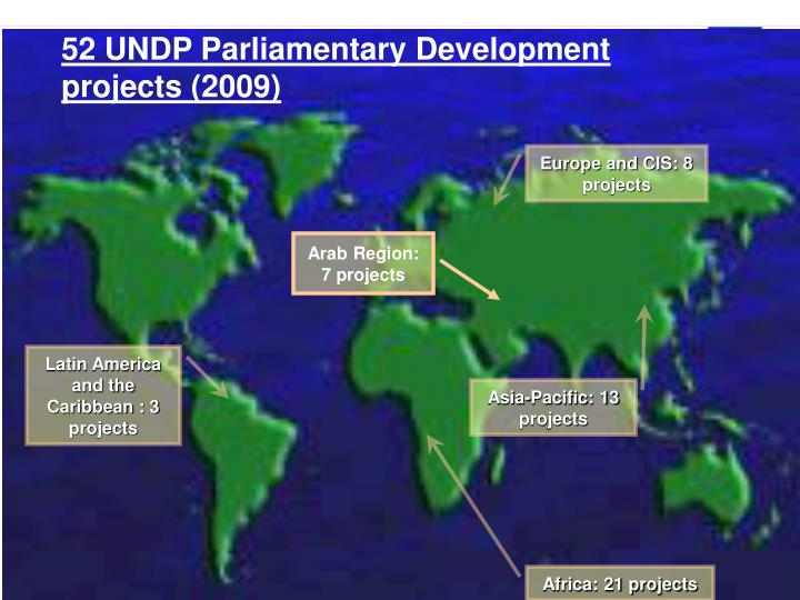 52 UNDP Parliamentary Development projects (2009)