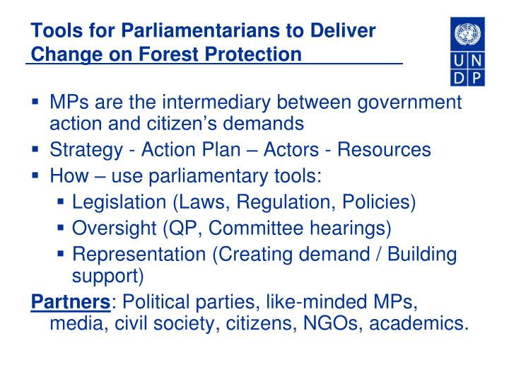 MPs are the intermediary between government action and citizen's demands