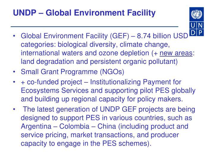 UNDP – Global Environment Facility