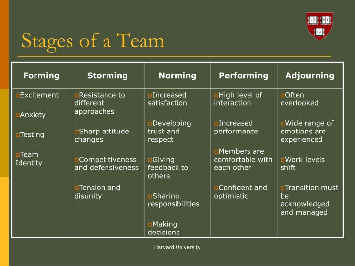 Stages of a Team