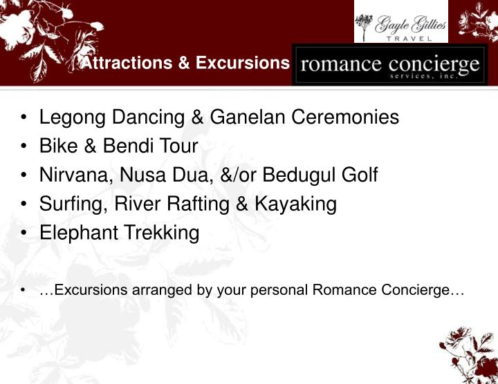 Attractions & Excursions