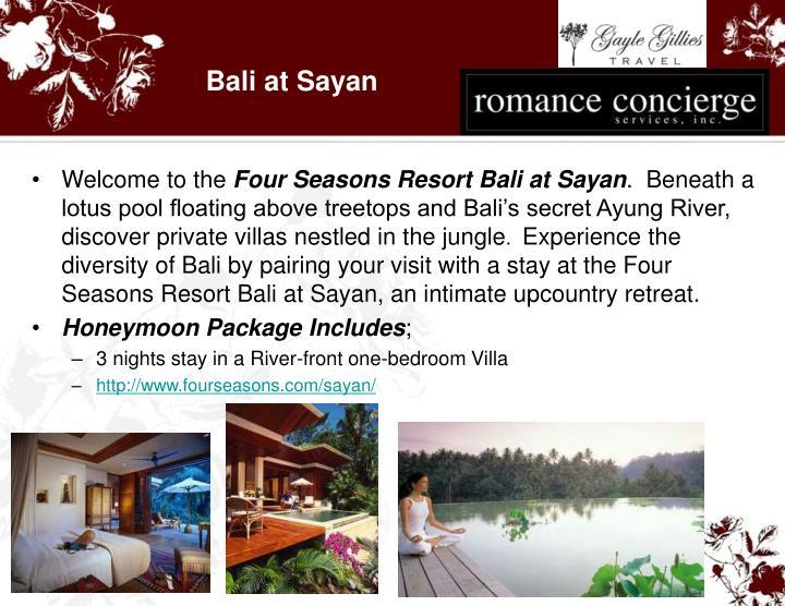 Bali at Sayan
