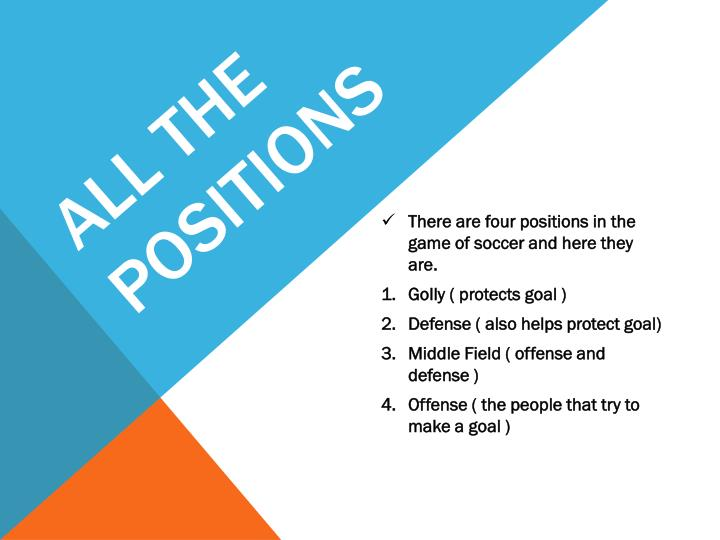 ALL THE POSITIONS