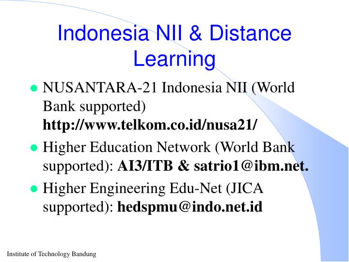 Indonesia NII & Distance Learning