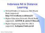 indonesia nii distance learning