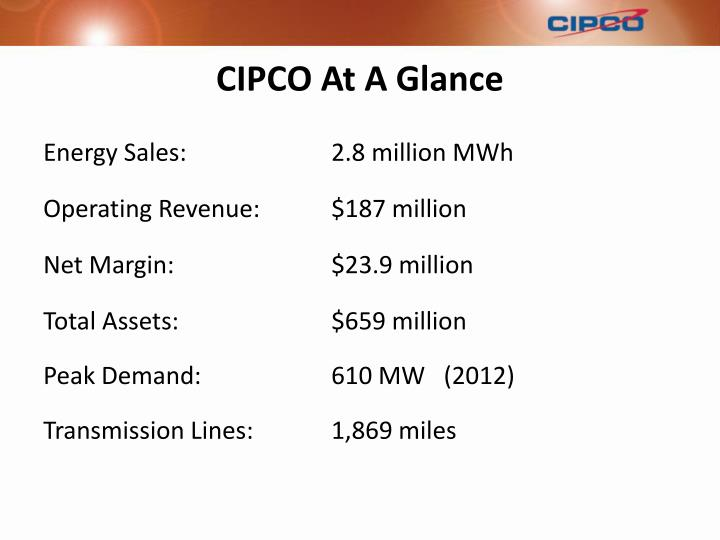 Cipco at a glance1