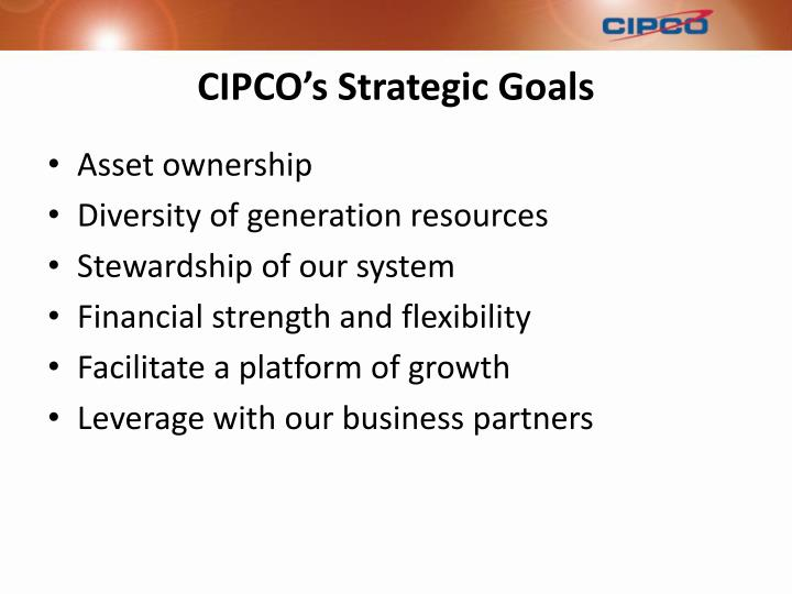 CIPCO's Strategic Goals