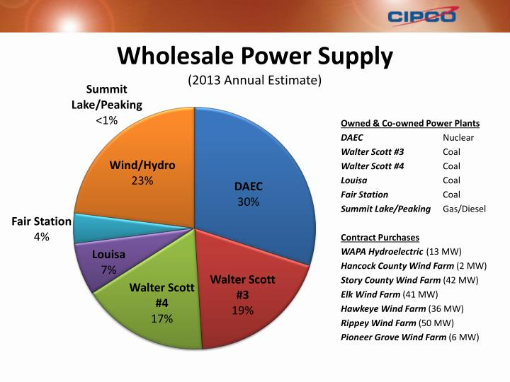 Wholesale Power Supply