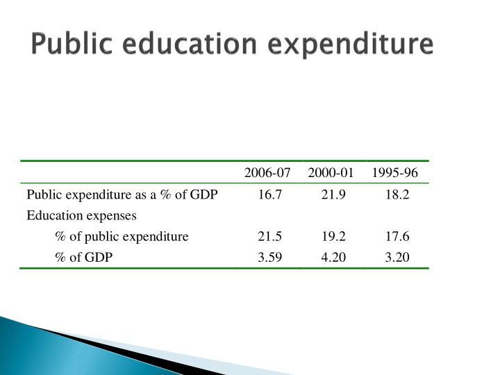 Public education expenditure