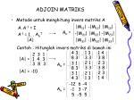 adjoin matriks
