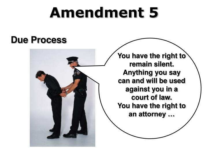 You have the right to remain silent. Anything you say can and will be used against you in a court of law.