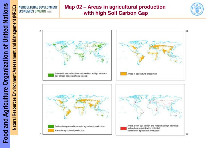 Map 02 – Areas in agricultural production