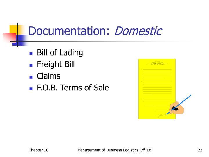 Documentation: