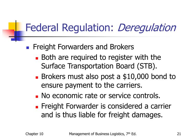 Federal Regulation: