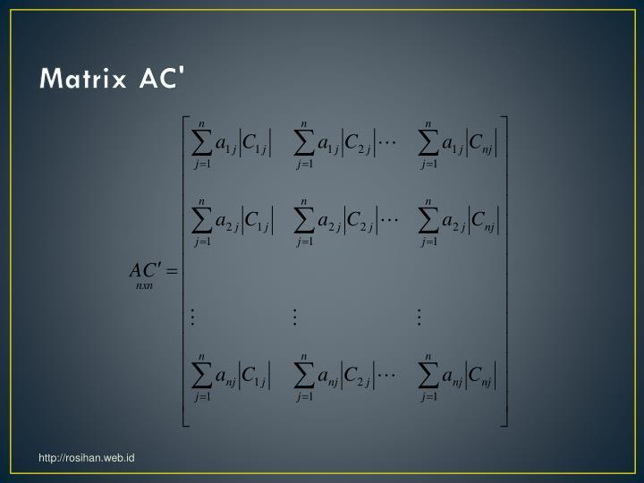 Matrix AC