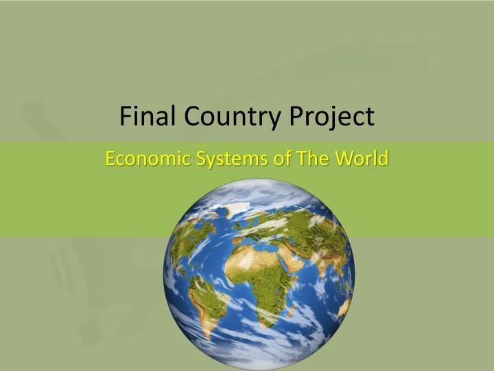 Final Country Project