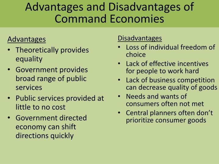 Advantages and Disadvantages of Command Economies