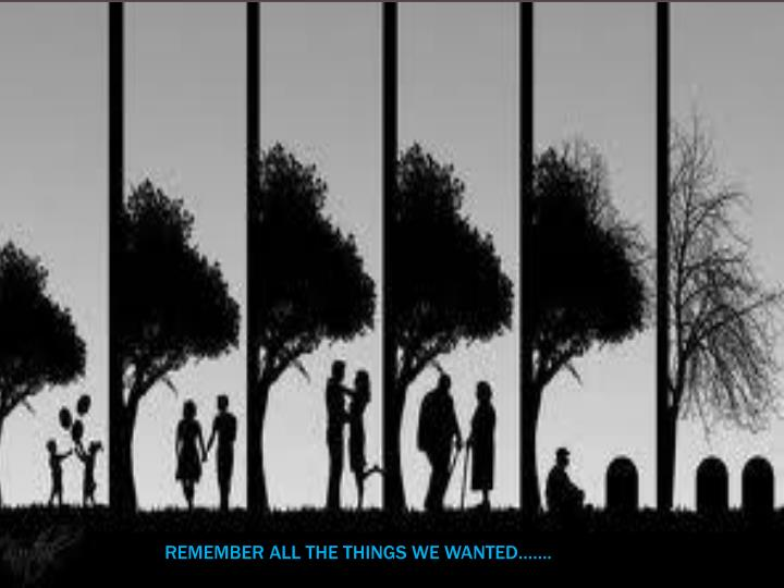 REMEMBER ALL THE THINGS WE WANTED…….