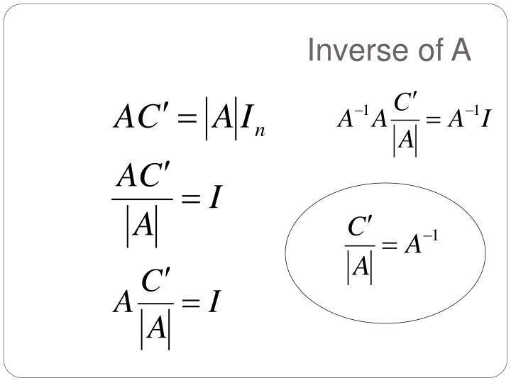 Inverse of A
