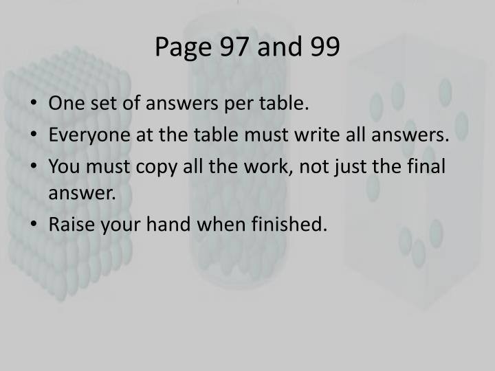Page 97 and 99