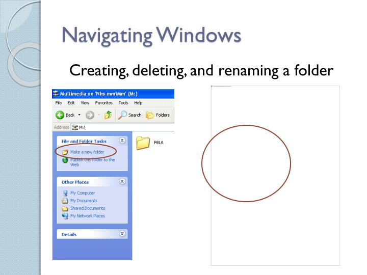 Navigating Windows