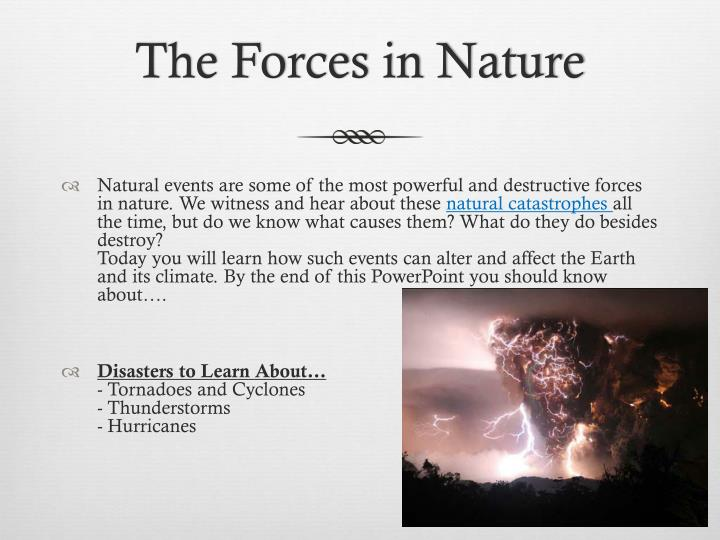 The forces in nature