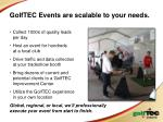 golftec events are scalable to your needs