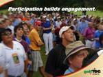 participation builds engagement