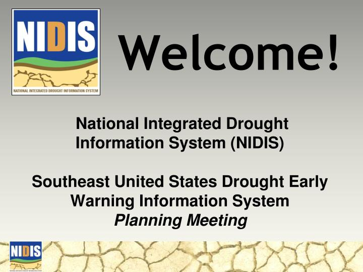 National Integrated Drought