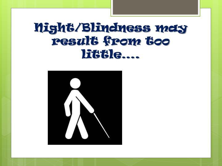 Night/Blindness