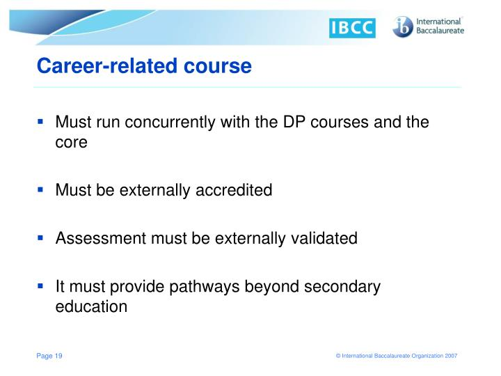 Career-related course