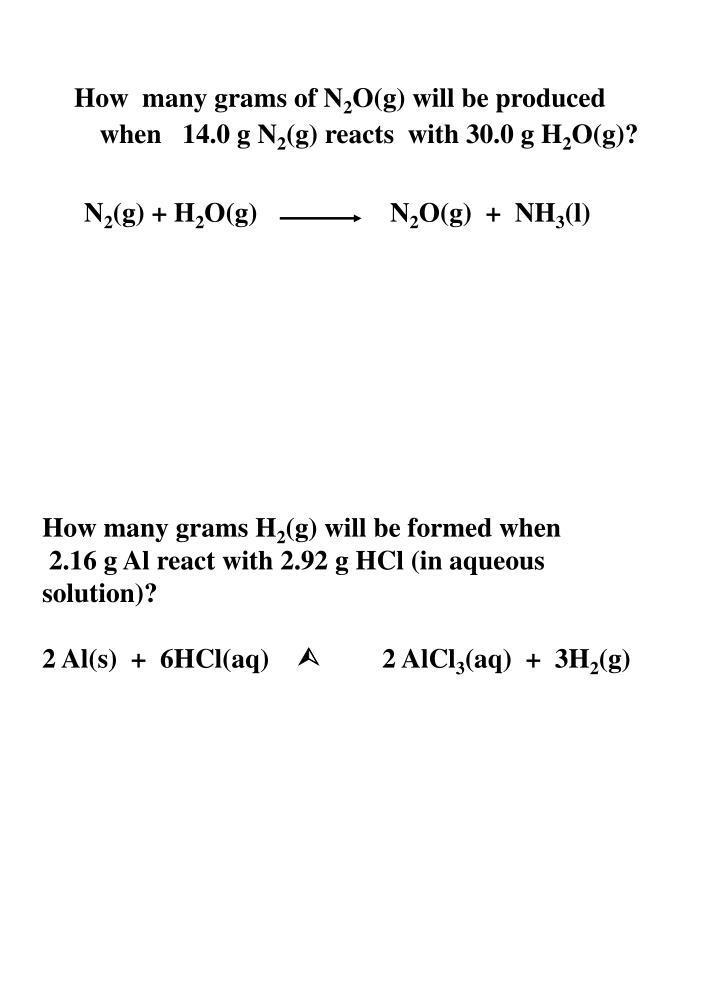 How  many grams of N