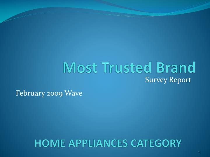 home appliances category