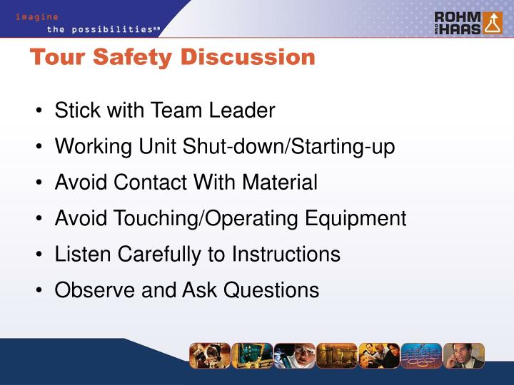 Tour safety discussion