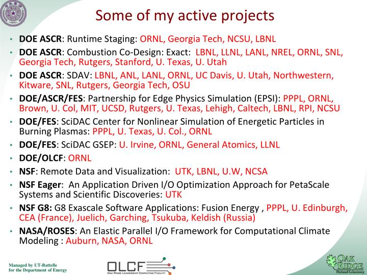 Some of my active projects