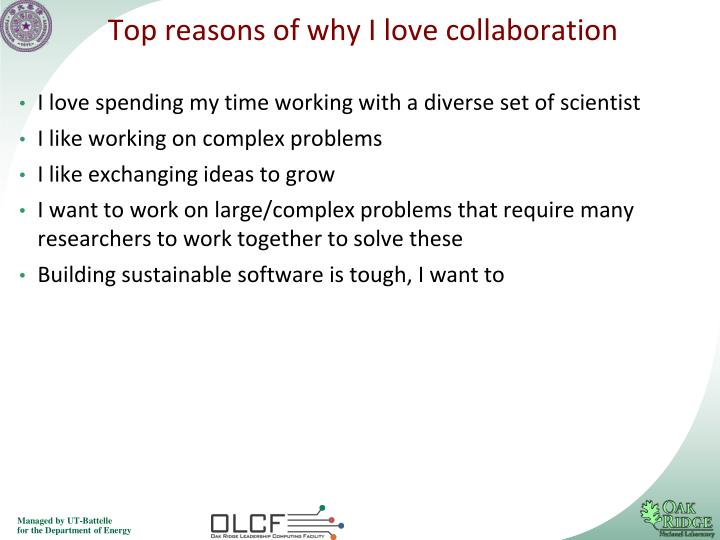 Top reasons of why I love collaboration