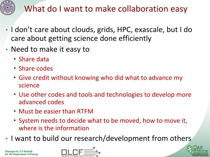 What do I want to make collaboration easy