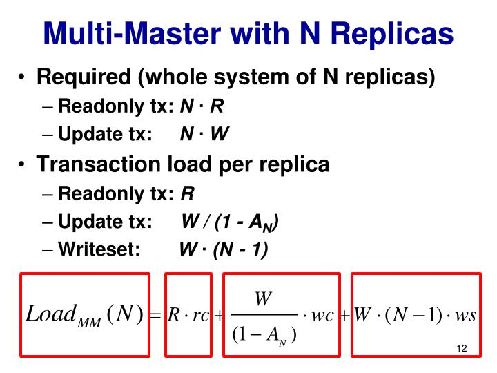 Multi-Master with N Replicas