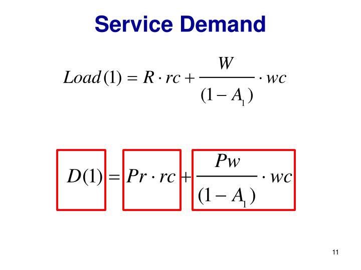 Service Demand