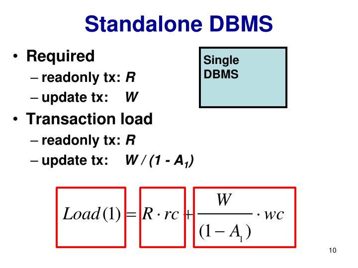 Standalone DBMS