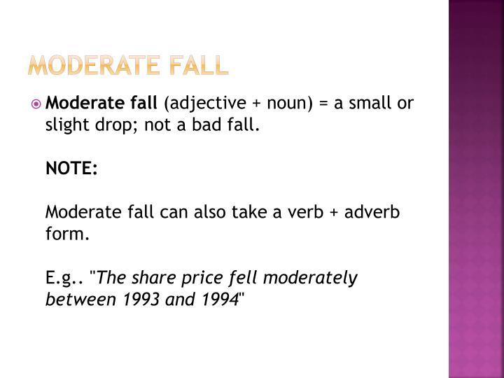Moderate fall