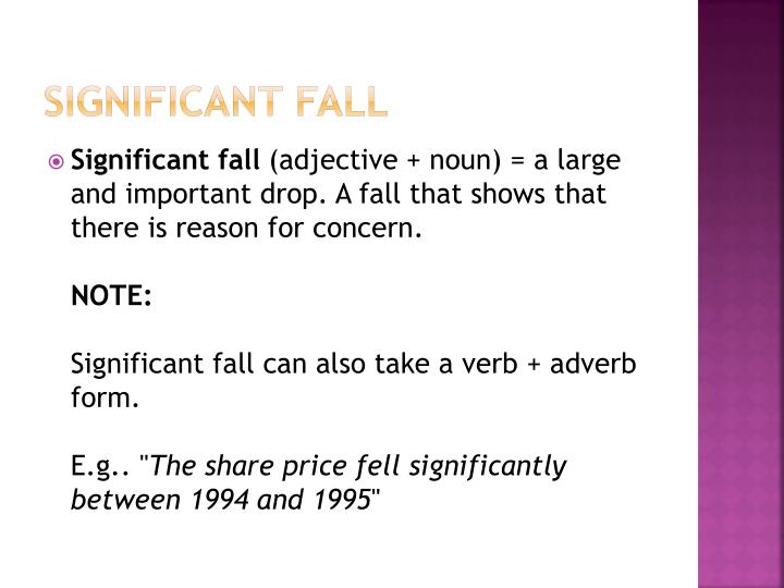 Significant fall