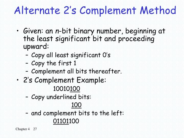 Alternate 2's Complement Method