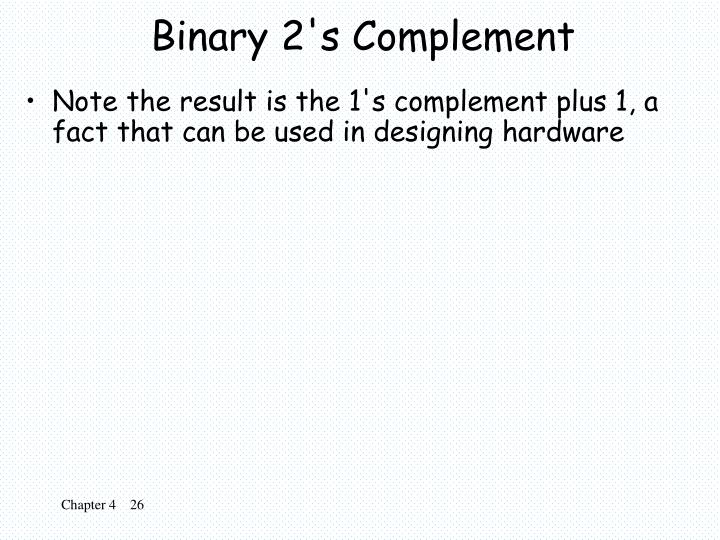 Binary 2's Complement