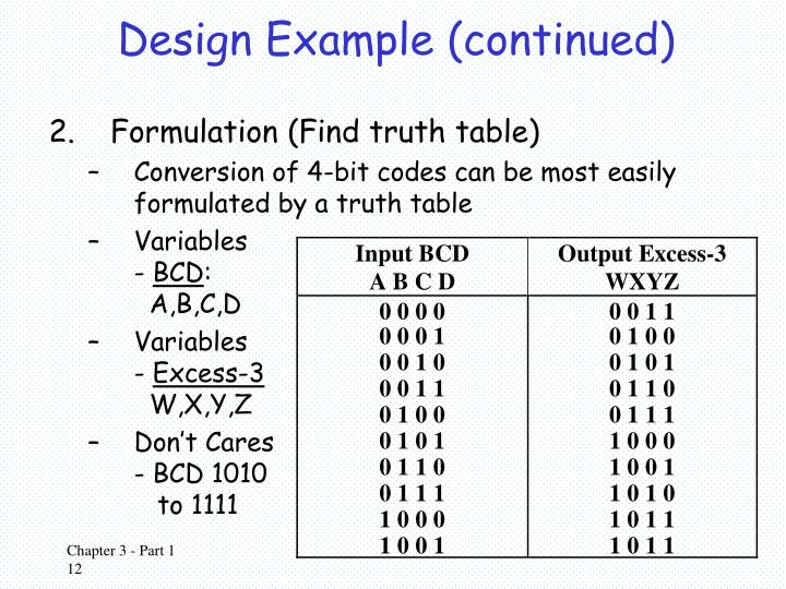 Design Example (continued)