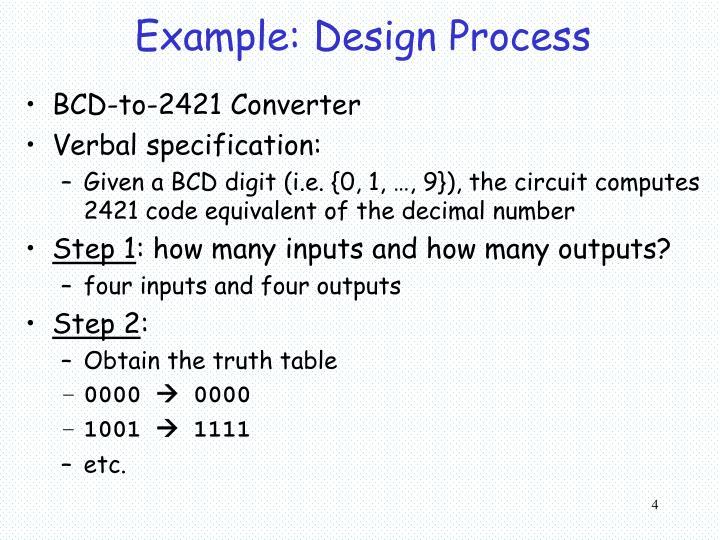 Example: Design Process