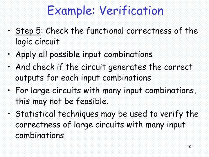 Example: Verification