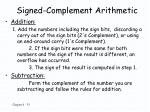signed complement arithmetic