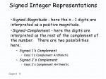 signed integer representations